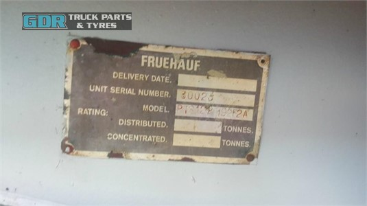1980 Fruehauf Extendable Flat Top Trailer GDR Truck Parts - Trailers for Sale