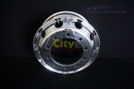 Alcoa 9.00x22.5 Polished Steer Alloy 10/335 - Truckworld.com.au - Parts & Accessories for Sale