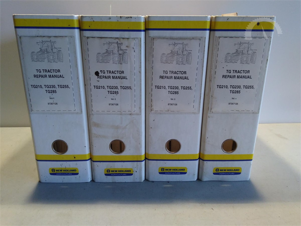 AuctionTime.com | NEW HOLLAND TG TRACTOR MANUALS TG 210, 230,255,285 Online  Auctions
