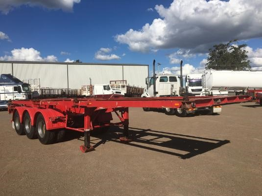 2007 Tht 40ft Tri Axle Retractable Skel - Trailers for Sale