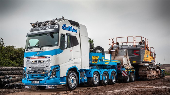 Collins Earthworks Bolsters Fleet With Volvo 8x4 Fh16 750