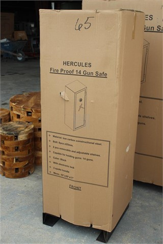 Lot # 65 - HERCULES FIRE PROOF GUN SAFE