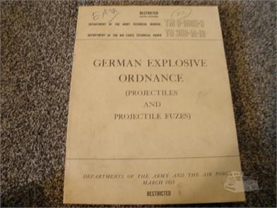 ESTATE WWII GERMAN EXPLOSIVE MANUAL Auktionsergebnisse - 1 ... on