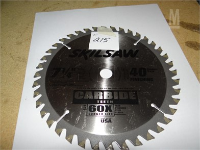 215 Skilsaw Carbide Tools/Hand Held Items Auction Results