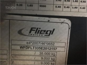 FLIEGL 48 CBM ABSCHIEBEWAGEN , 80 KM/H ZULASSUNG