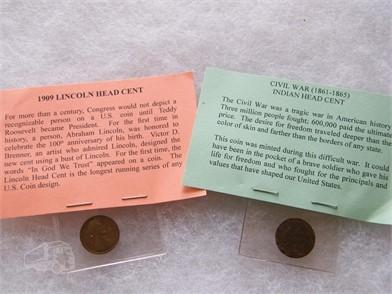 Indian Head & 1909 Lincoln Wheat Cents Persönliches Eigentum