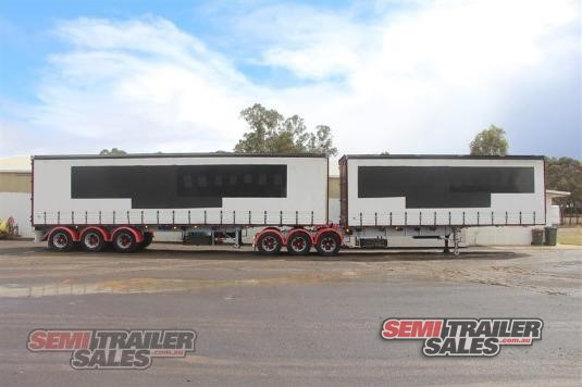 1996 Vawdrey 34 Pallet Curtainsider B Double Set Semi Trailer Sales - Trailers for Sale