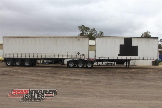 2007 Vawdrey 34 Pallet Curtainsider B Double Set Semi Trailer Sales - Trailers for Sale