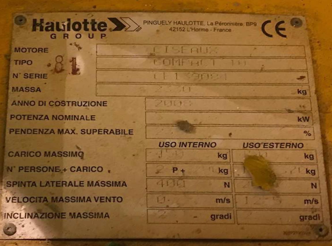 Haulotte COMPACT 10 Usato 2008