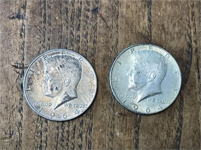 Two 1964-D Kennedy Silver Other Personal Property Personal Property
