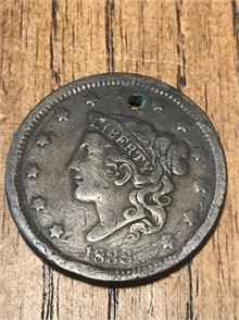 1838 United States Matron Head Large Cent - Other Personal