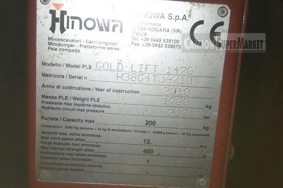 HINOWA GOLDLIFT 14.70 Usato 2010