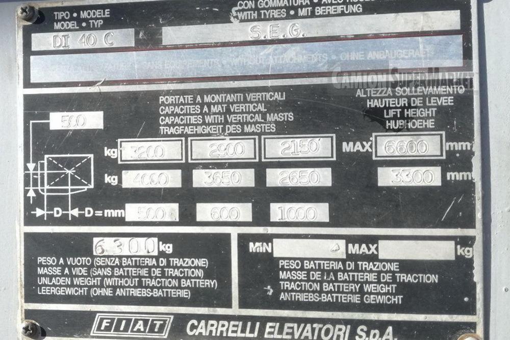 Fiat DI40C Usato 1989