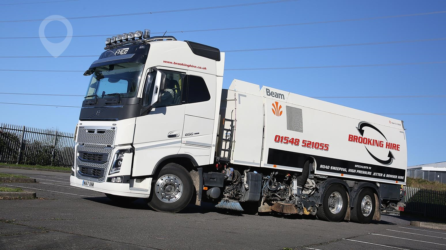 3be49bab77 Brooking Hire Puts New High-Spec Volvo FH16 Sweeper Truck Into Operation