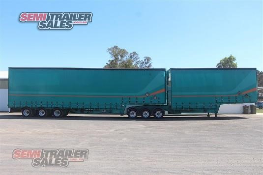 1998 Freighter 34 Pallet Curtainsider B Double Set Semi Trailer Sales - Trailers for Sale