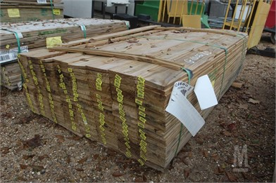 Approx 240 Treated 58x6x6 Fence Boards Other Auction