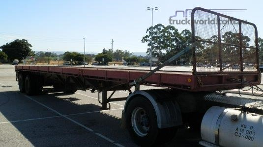 1987 Fruehauf Extendable Flat Top Trailer Truck Traders WA - Trailers for Sale
