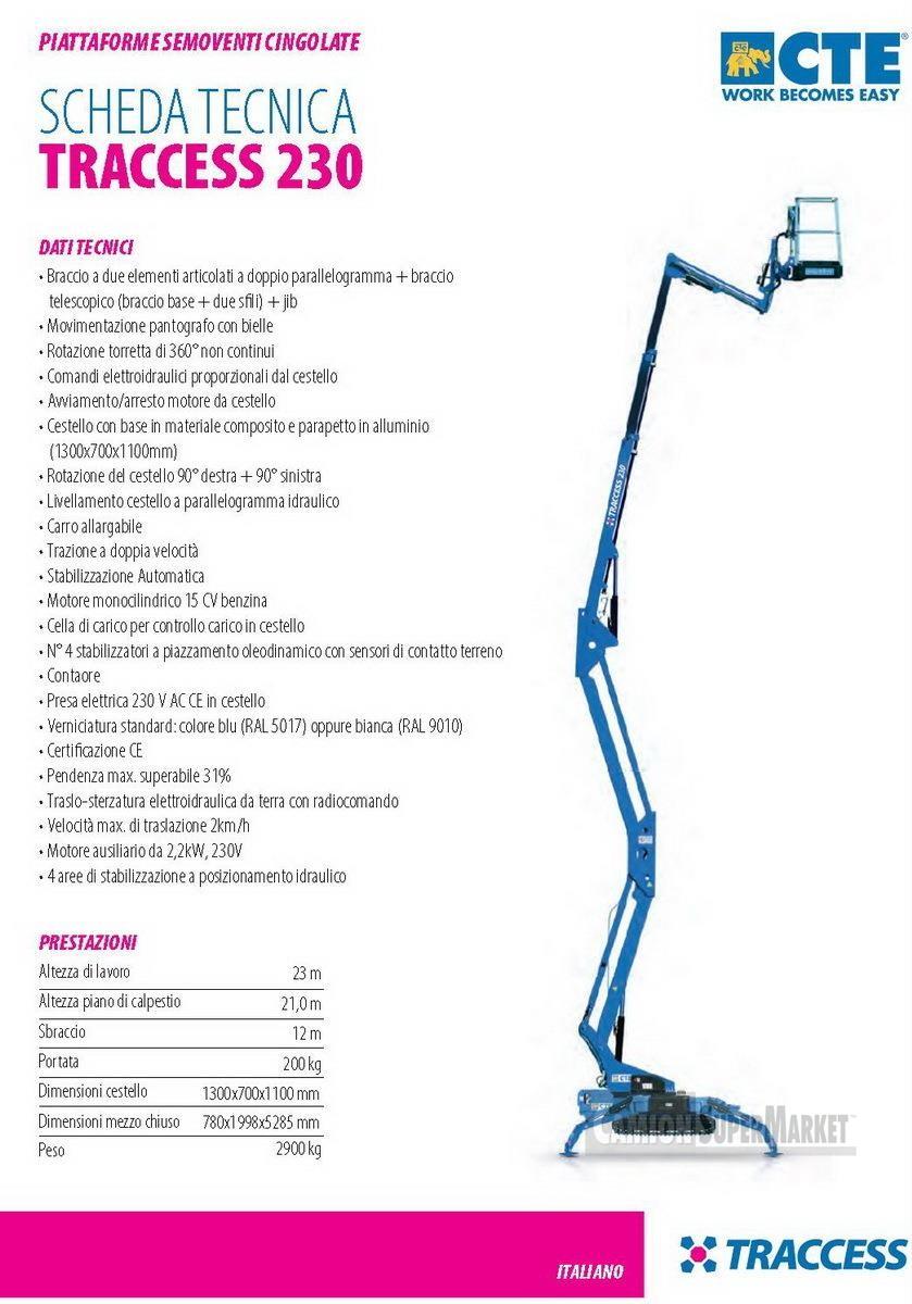 CTE TRACCESS 230 Usato 2011