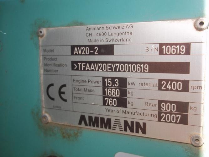 Ammann AV20-2 Usato 2007