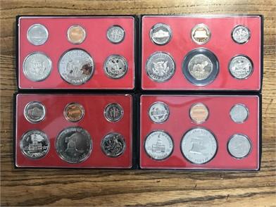 Lot Of (4) Black Box Proof Sets Including Sets U S  Coins
