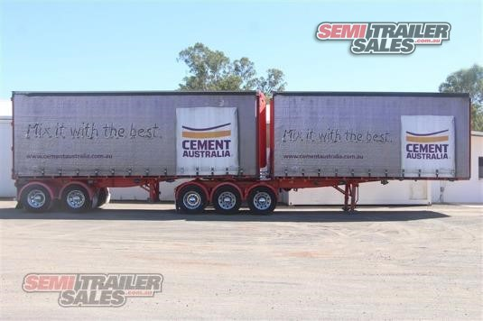 2004 Maxitrans Curtainsider B Double Set Semi Trailer Sales - Trailers for Sale
