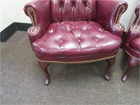 Pair of Tufted Wingback Chairs