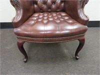 Tufted Wingback Chair