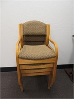 (4) Stackable Chairs