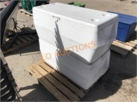 2pc White Rubbermaid Coolers