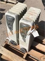 2pc Pelonis Electric Radiator Heaters