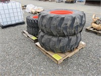 (4) Assorted Tractor Tires & Rims