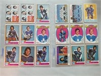 Nhl Hockey 40 Vintage Toronto Maple Leaf Cards.