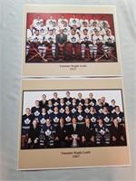 4 Nhl Hockey Vintage Photos. Toronto Maple Leaf