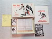 """Solo-ball """"the Solitaire Baseball Game. Vintage"""
