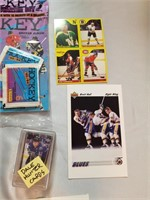 Mixed Lot Of Hockey Cards And Collector Items.