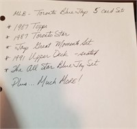 Mlb Toronto Blue Jay's 5 Card Set. (see Final