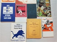 Vintage football publications.
