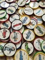 Large Selection of Jello Car Coin Wheels. 1960's