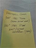 Football Cards. 350+ 1980 Topps. Some corner