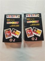 NHL Hockey. 2 complete Wax Boxes. 1990-91. O-