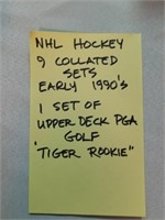 NHL Hockey. 9 collated Sets. Early 1990's. 1 set