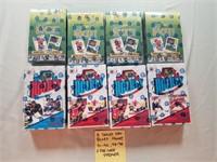 8 Sealed Wax Boxes: Hockey 91-92, 93-94O Pee Chee