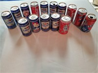 Collection of 10 Winter Olympic Labatts Beer cans