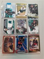 20 Rick Nash and Corey Perry Hockey Cards.