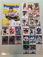 95 Hockey & Baseball Cards. Some autographed,
