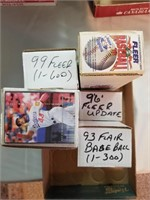 6 Sets of Baseball Cards. *See last photo for