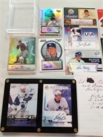 Collection on 12 Hockey and Baseball RC's. All
