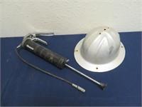 Grease Gun & Metal Safety Hat