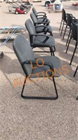4pc Gray Office Chairs