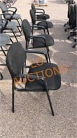 4pc Black Office Chairs